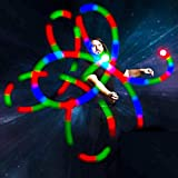 GloFX LED Poi Balls: 9 Mode Poi - Bright Flow Toy Light Painting Spin Glow Dancing Light Show Rave Prop