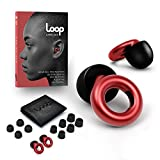 Loop Earplugs for Noise Reduction (2 Ear Plugs) High Fidelity Ear Protection for Concerts, Work Noise Reduction, Studying, Musicians, Motorcycles, Relaxation - 20 dB Filter Sound Blocking - Black