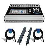 QSC TouchMix-30 Pro 32-Channel Compact Digital Mixer with Touchscreen - Bundle With QSC Rack Mount Kit, 2x 20' Heavy Duty 7mm Rubber XLR Microphone Cable