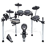Alesis Surge Mesh Kit   Eight-Piece Electronic Drum Kit with Mesh Heads, Chrome Rack and Surge Drum Module including 40 Kits, 385 sounds 60 Play Aong Tracks and USB/MIDI Connectivity