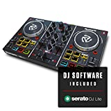 Numark Party Mix | Beginners DJ Controller for Serato DJ Lite With 2 Channels, Built In Audio Interface With Headphone Output, Pad Performance Controls, Crossfader, Jogwheels and Light Display
