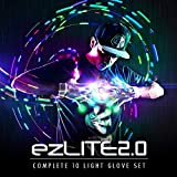 EmazingLights LED Gloves ezLite 2.0 Light Up Glove Set Finger Glow Gloves