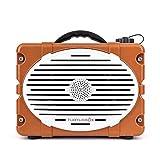Turtlebox: Loud! Outdoor Rugged Bluetooth Speaker ~ Up to 50+ Hour Charge | IP67 Waterproof & Dustproof. Plays up to 120db. (Burnt Orange & White)