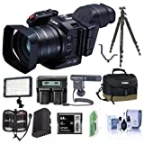Canon XC10 4K Professional Camcorder - Bundle with Video Case 62GB CFAST Card, Spare Battery, Tripod, Video Light, Shotgun Mic, Cleaning Kit, and More