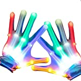 heytech Led Gloves Light-up Party LED Party Supplies Gloves Multicolor Led Glove for Halloween,, Dance Costumes, Kids Gift, Boys Gift, Light-up Party.