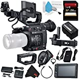 Canon EOS C200 EF Cinema Camera #2215C002 + 256GB SDXC Card + Professional 160 LED Video Light Studio Series + Deluxe Cleaning Kit + Microfiber Cloth Bundle