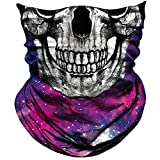AXBXCX Skull Skeleton Outdoor Face Mask Bandana - Microfiber Polyester Seamless Headwear Dust Music Festivals Raves Ski Motorcycle Snowboard Cycling Hiking Halloween Party Ghost Mask 039