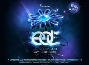 Electric Daisy Carnival in Las Vegas 2013 Dates Announced: June 21-23