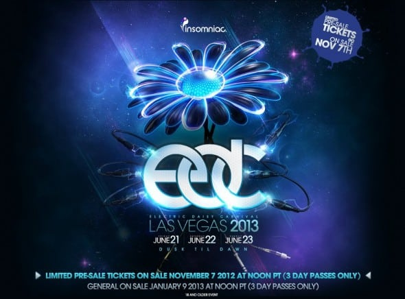 Electric Daisy Carnival in Las Vegas 2013 Dates Announced: June 21-23