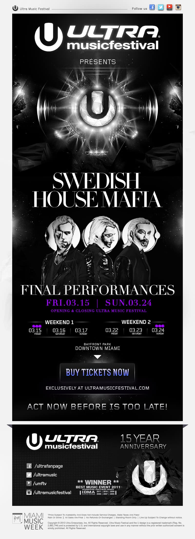 Swedish House Mafia announces final show will be at Ultra Music Festival