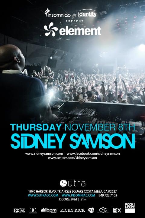 Sidney Samson at Sutra OC on November 8, 2012