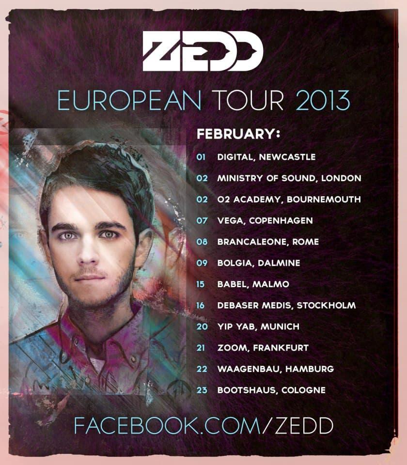 Zedd Announces European Tour