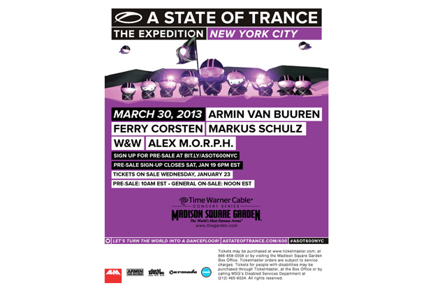 ASOT 600 in New York