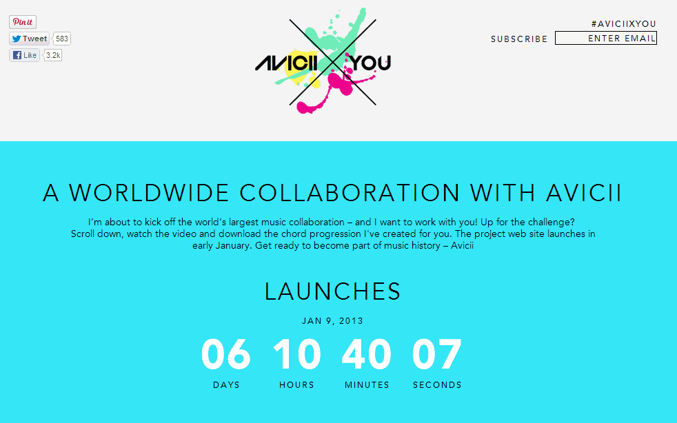 Avicii Announced a Worldwide Collaboration called AVICIIXYOU