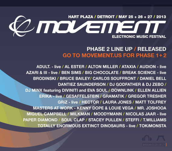 Movement Electronic Music Festival Announce Phase 2 Lineup