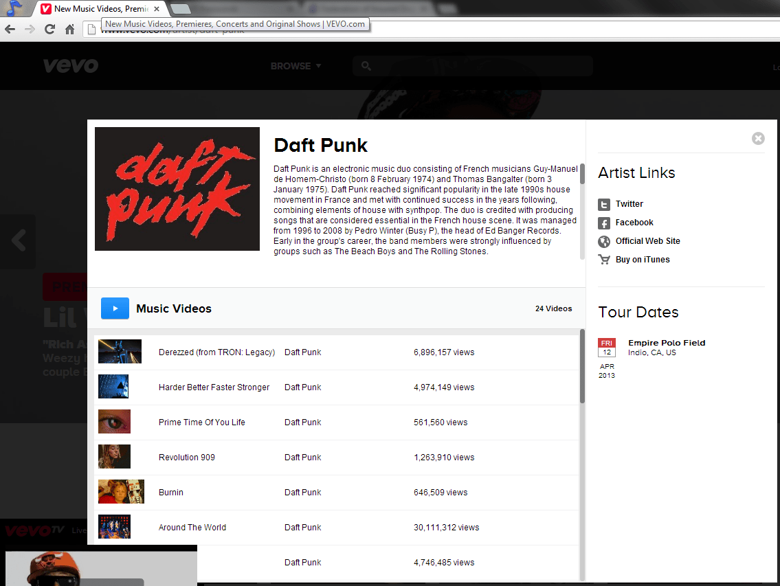 Did VEVO Just Reveal Daft Punk Will Play at Coachella 2013