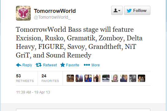 The Bass Stage Performers at TomorrowWorld Have Been Announced!