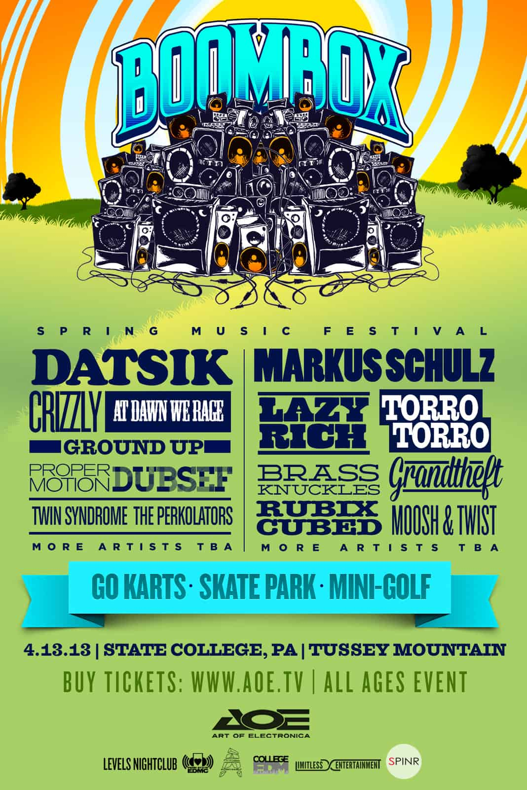 boombox festival flyer
