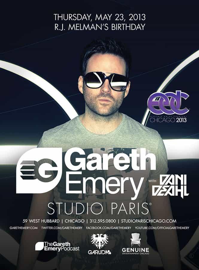 Gareth Emery at Studio Paris on May 23
