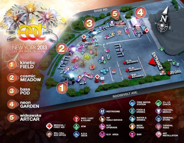 EDC NY Releases Festival Map, Although No Stages Inside Citi Field