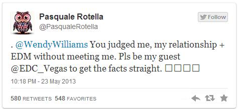 Pasquale Rotella Invited Wendy Williams to EDC Las Vegas
