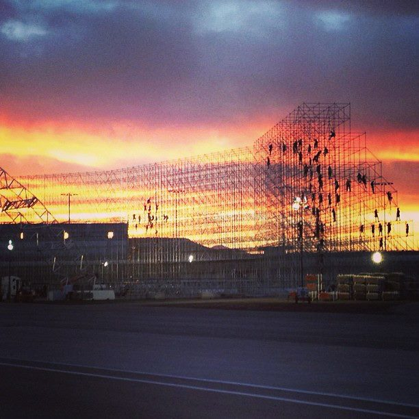 EDC Las Vegas Begins Setting Up During Sunrise