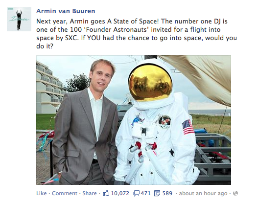 Armin van Buuren Will Be The First DJ In Space
