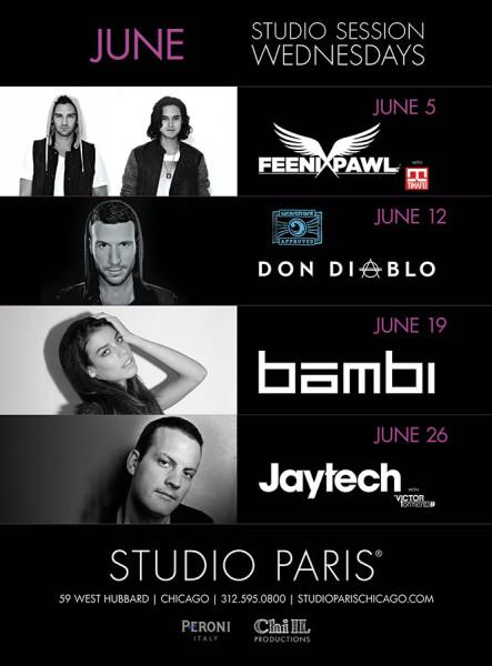 Chicago's Studio Paris June Lineup