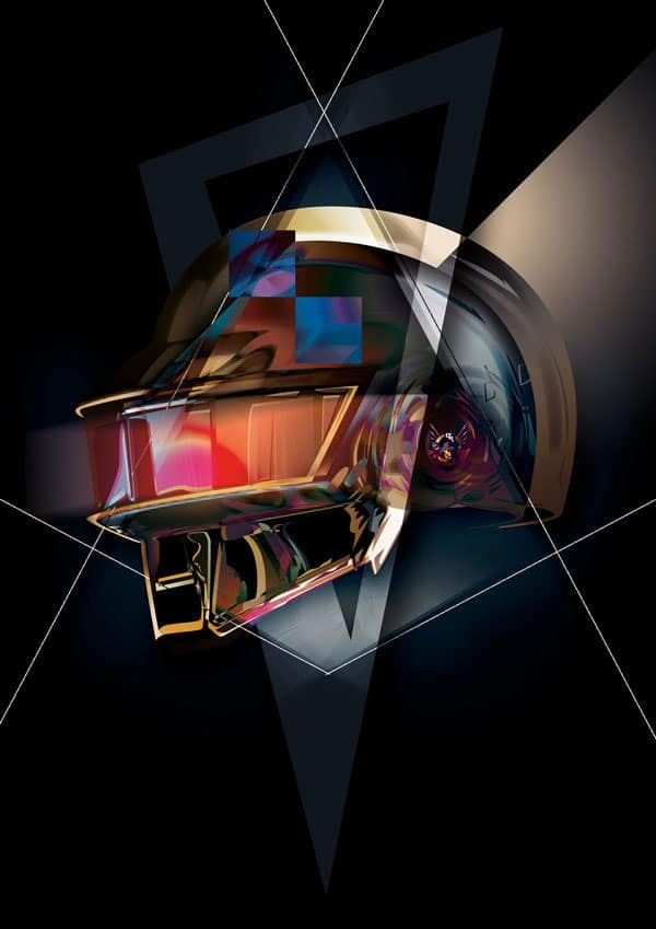 15 Incredible Fan Art Pictures Of Daft Punk