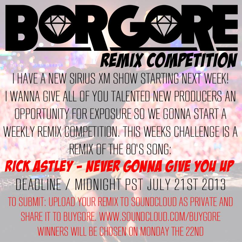 Borgore Will Host Weekly Remix Competition on Sirius XM