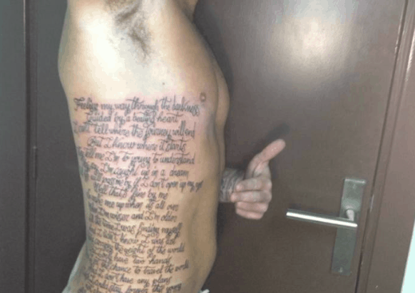 Fan Has Avicii's 'Wake Me Up' Tattooed On His Body