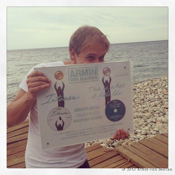 Armin van Buuren Announces Platinum and Gold Award