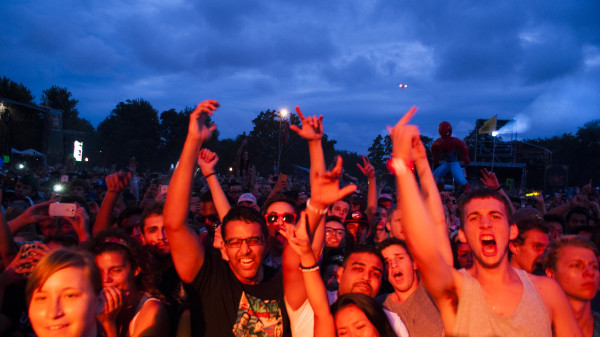 The crowd at Nas