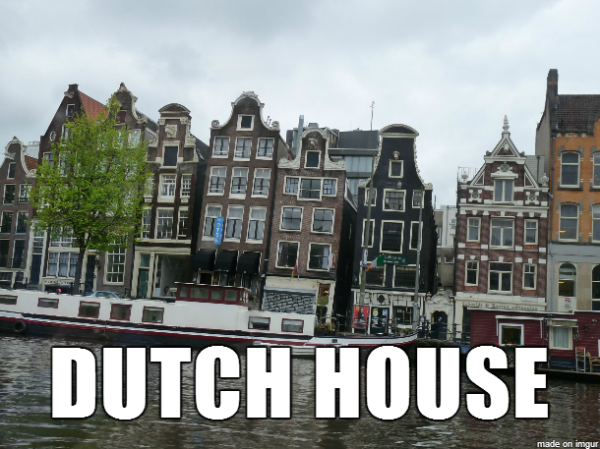 House music imagined with houses humor for Dutch house music