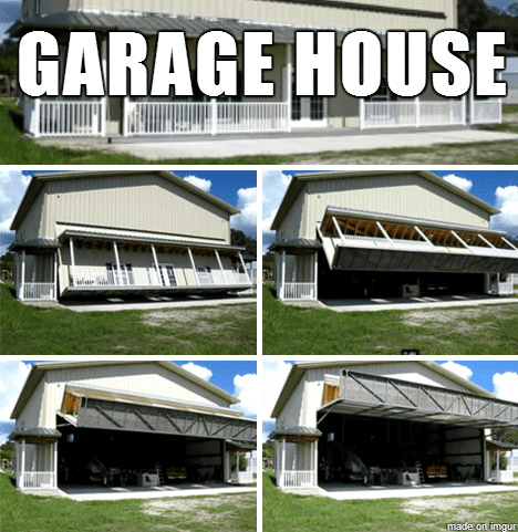 House music imagined with houses humor for Garage house music