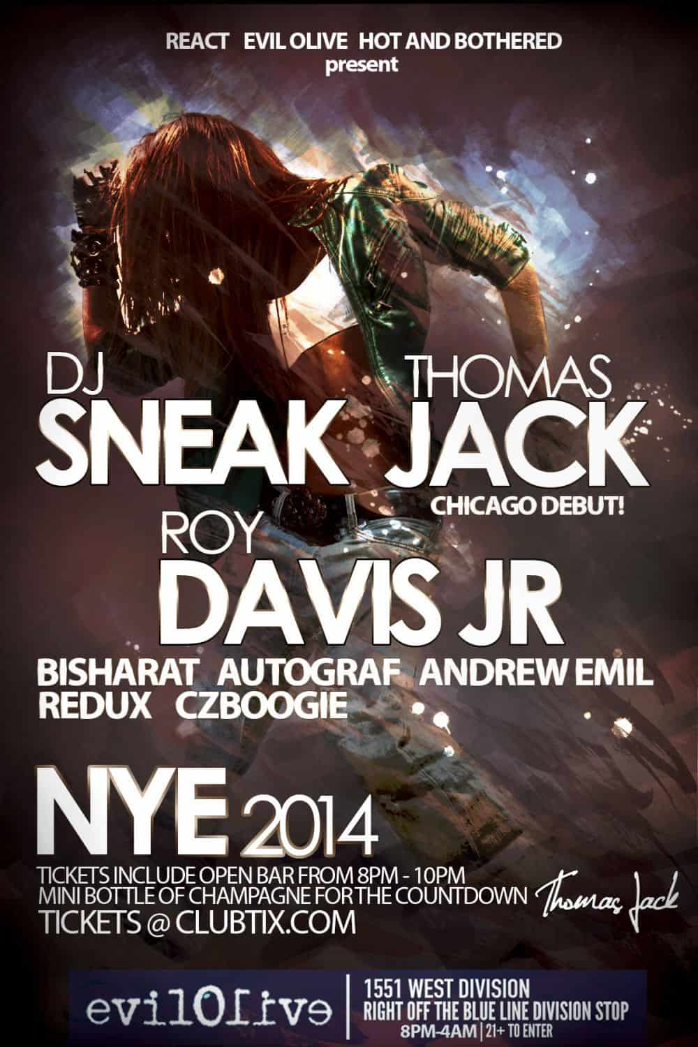 dj giveaway ticket giveaway dj sneak thomas jack nye party in chicago 1029