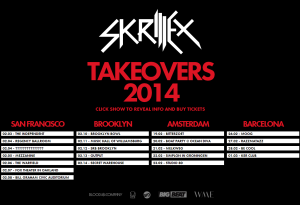 Skrillex tour dates in Australia