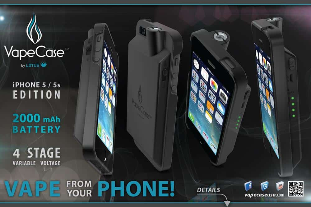 Track His Phone >> Introducing The VapeCase (Phone Case/E-Cig/Vaporizer)