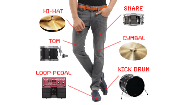 You Can Now Fit An Entire Drum Set In Your Pants