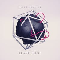 paper diamond black rose