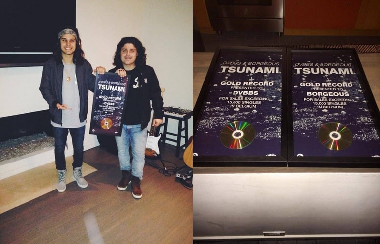 DVBBS and BORGEOUS Receive Gold For 'Tsunami'