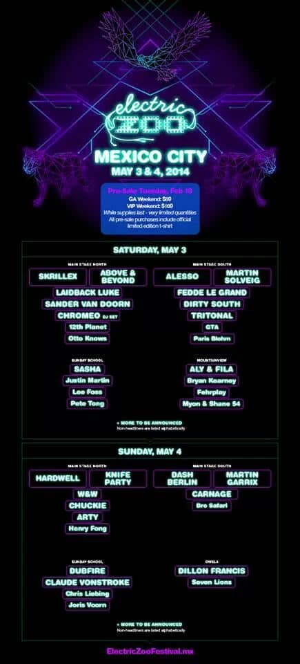 Electric Zoo Mexico Announces Phase 1 Line Up