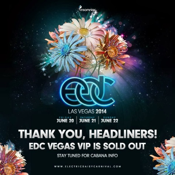 EDC Las Vegas VIP Tickets Are Sold Out, GA Still Available