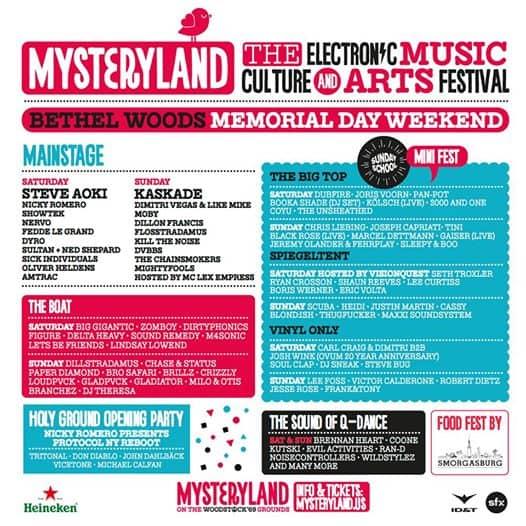Mysteryland Lineup