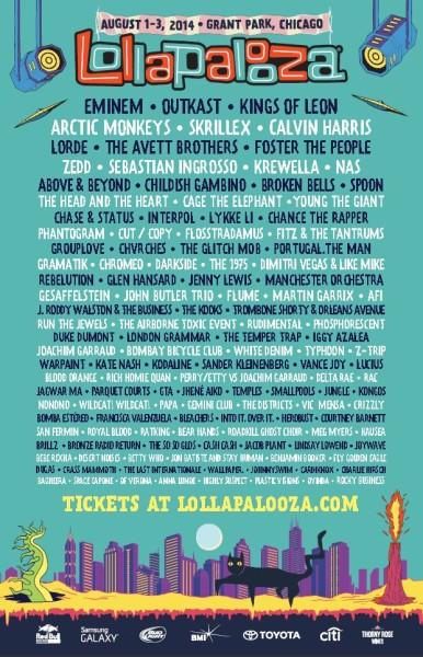 Lolla 2014 Lineup