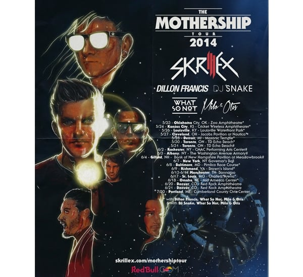 skrillex tour