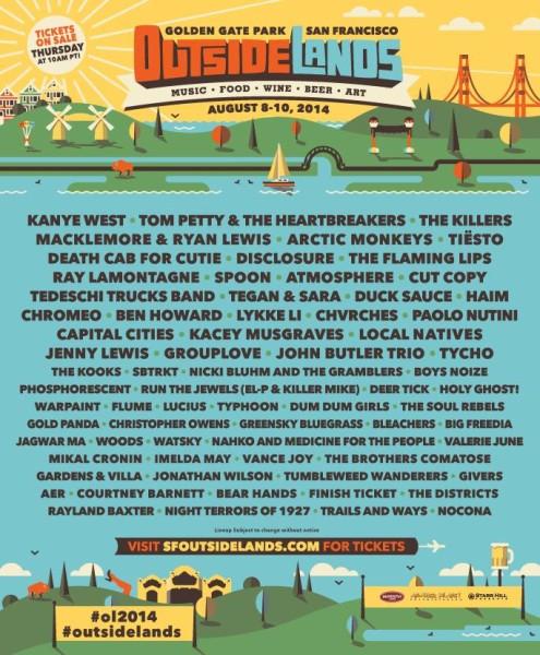 Outside Lands Festival Unleashes 2014 Lineup