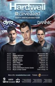 Revealed Bus Tour Schedule