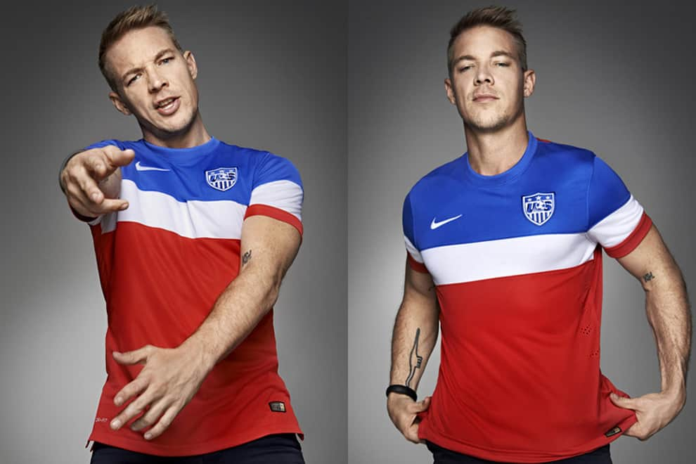 Diplo Models The United States Jerseys for the World Cup