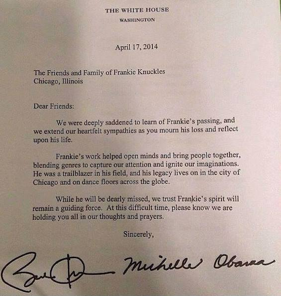 "President Obama Said Frankie Knuckles Helped ""Bring People Together"""